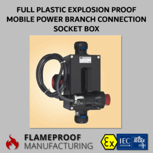 Full Plastic Explosion Proof Mobile Power Branch Connection Socket Box CZ0552